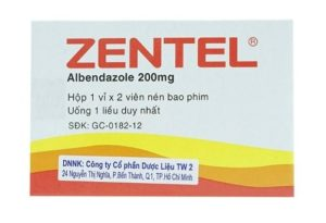 7. ZENTEL – Thuốc diệt giun sán của Anh được Bộ Y tế cấp phép lưu hành