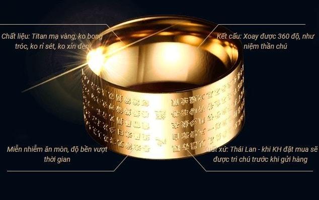 Chất liệu và cấu tạo nhẫn Bát Nhã Tâm Kinh