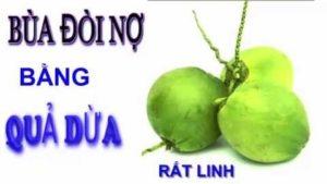 Làm bùa đòi nợ bằng dừa