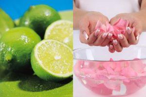 Sử dụng nước cốt chanh và nước hoa hồng: