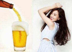 7.Cách làm da mặt trắng hơn bằng bia