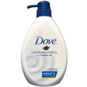 2.Sữa tắm trắng da hàng ngày Dove Deeply Nourishing