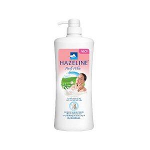 1.Sữa tắm trắng da Hazeline Pearly White Sữa Dê Tươi – Bột Ngọc Trai