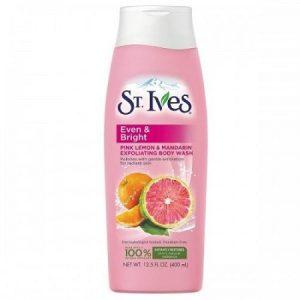 6. Sữa tắm trắng St.ives Even & Bright Body Wash – Pink Lemon and Mandarin Orange ( cam đào )