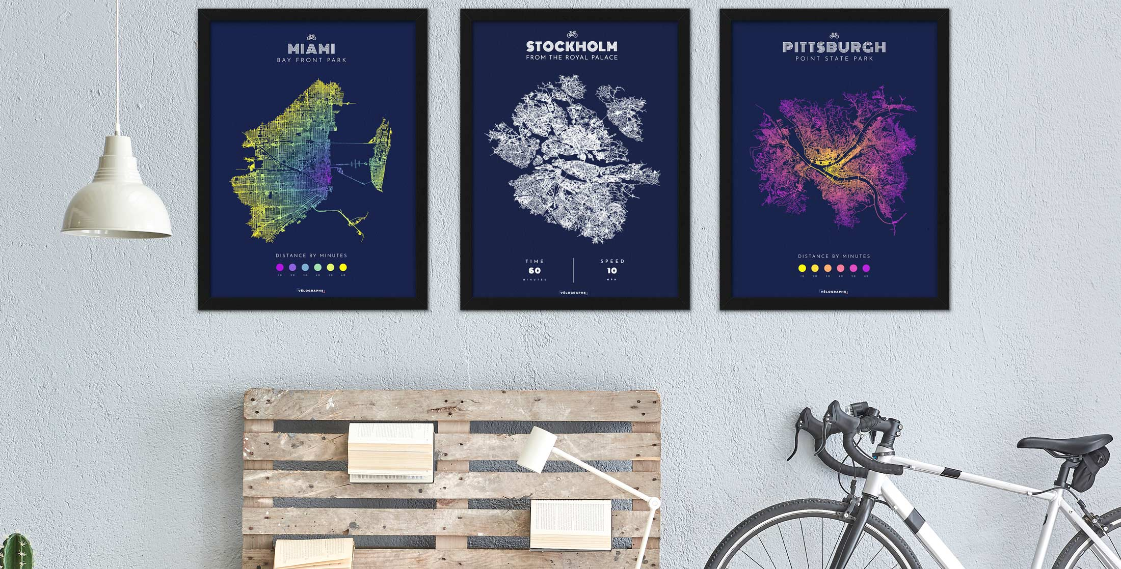 Velographs Custom Cycling Posters