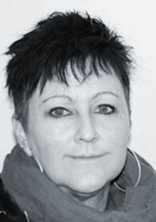 A black and white image of Marit Grønning-Moe