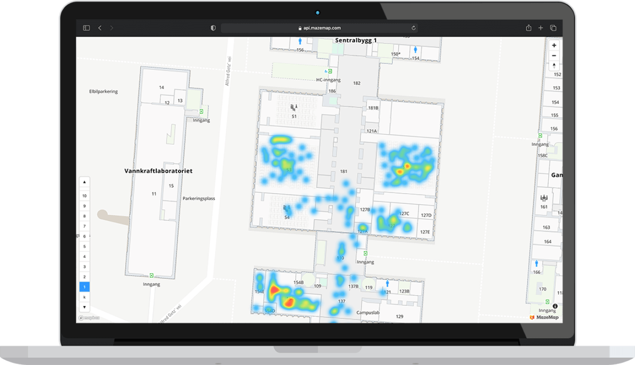 Heatmaps for occupancy monitoring