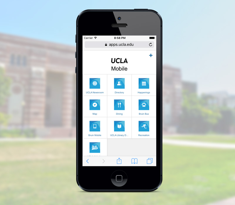 UCLA Mobile Portal front page screenshot