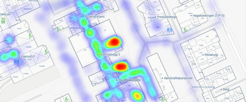 Campus Heatmap Analytics Illustration Example