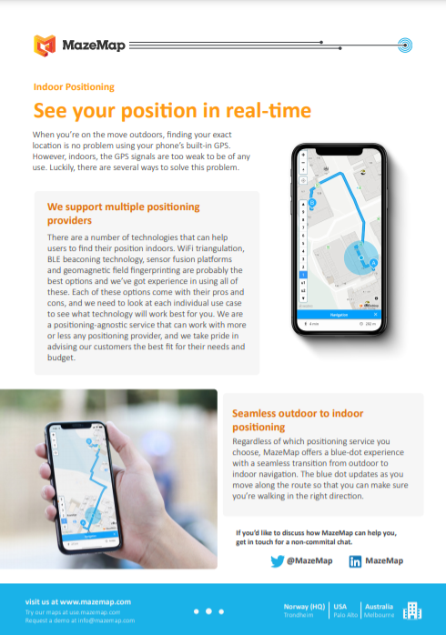 A preview of the solution product flyer