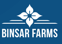 Binsar Farms Logo Blue