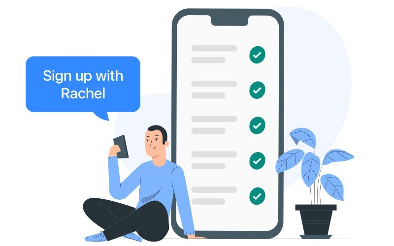 Sign up clients remotely