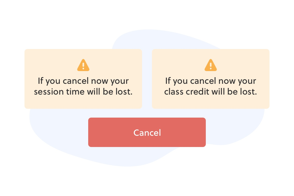 Client cancellations