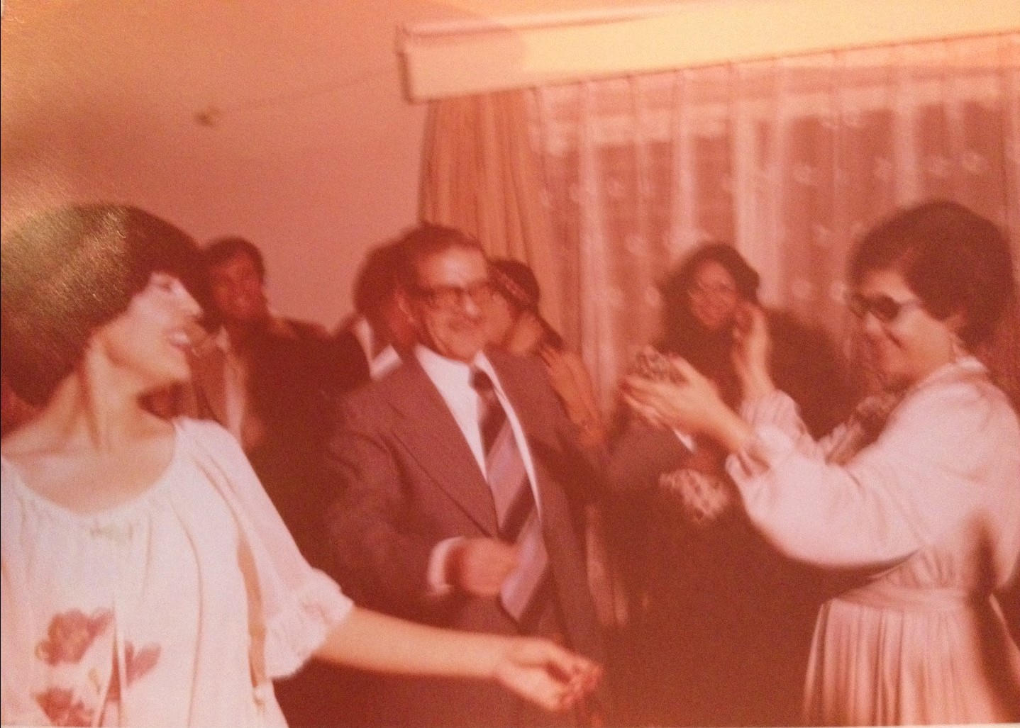 An image of grandparents dancing at a wedding in Baghdad in 1978 as submitted to the Iraq Photo Archive.