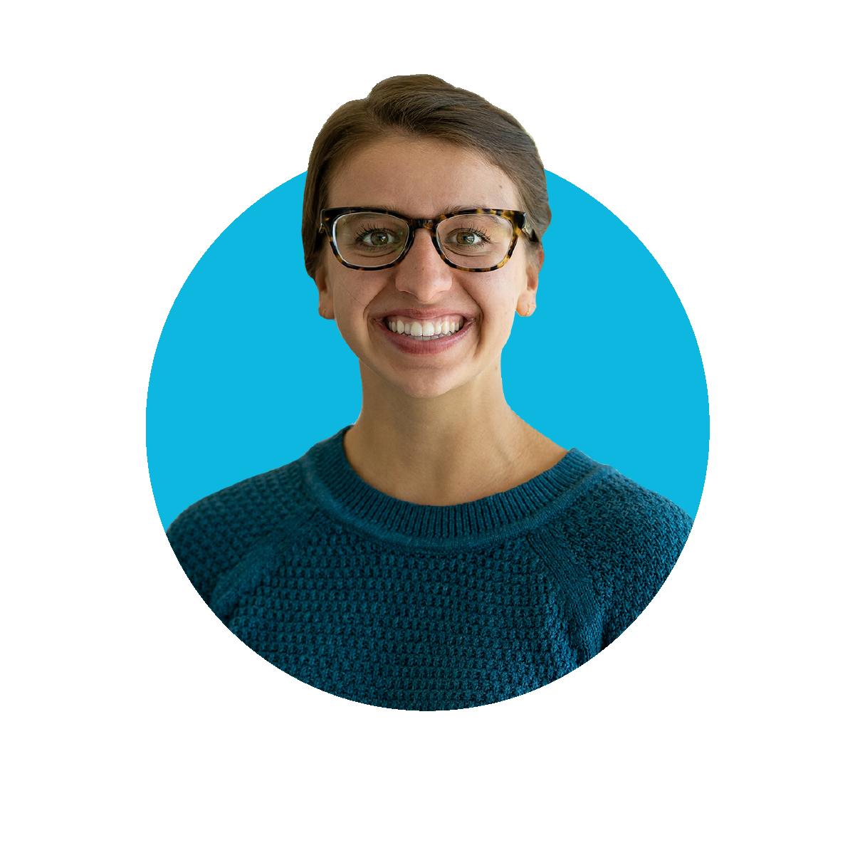 Headshot of Haley Hunter graphic designer at Bankable