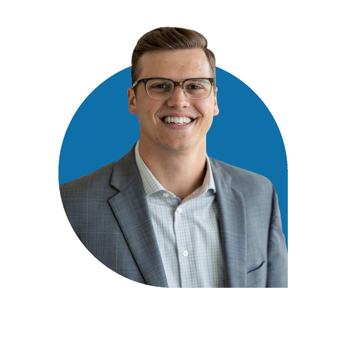 Headshot of Kyle Fawcett director of marketing at Bankable