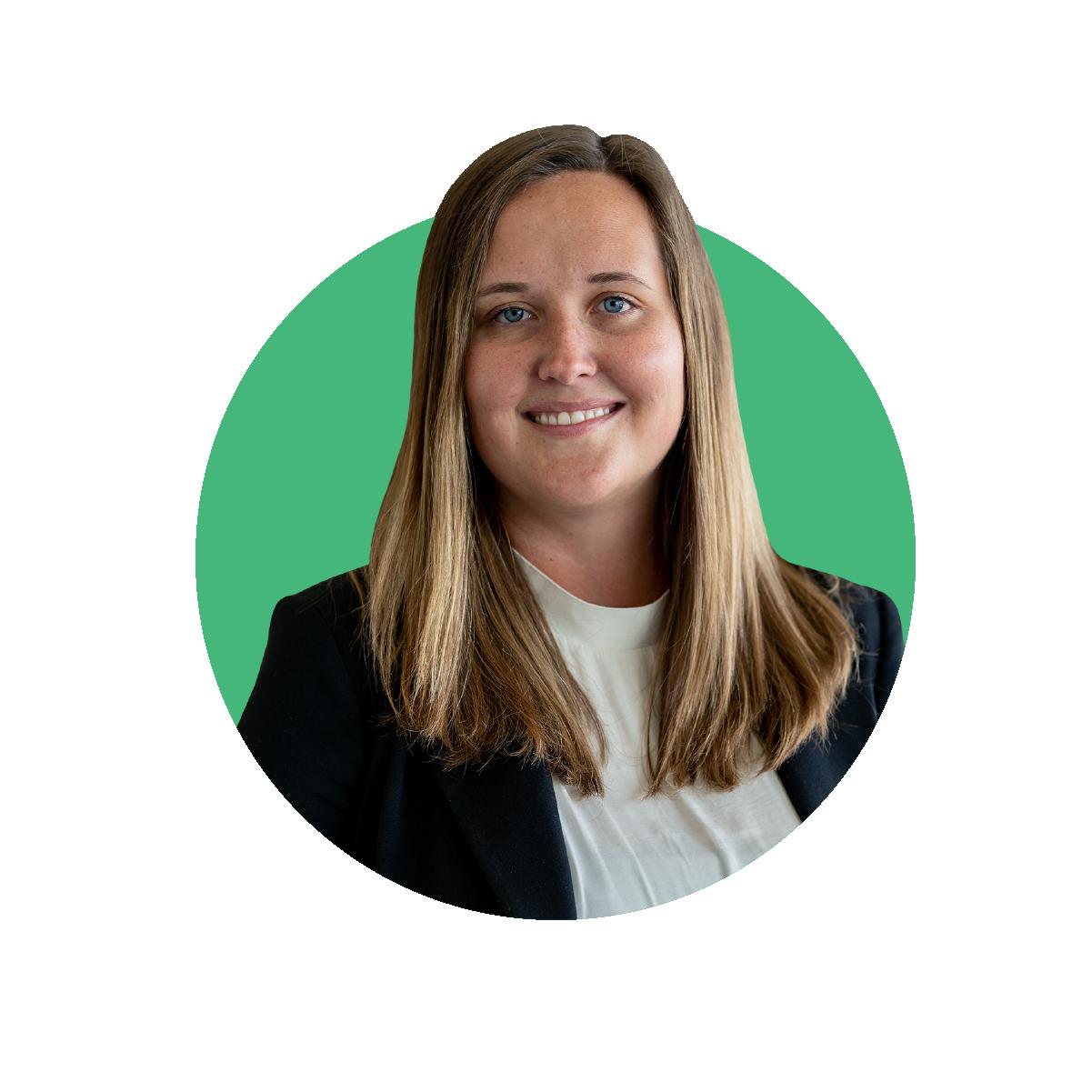 Headshot of Sarah Meyers director of operations at Bankable