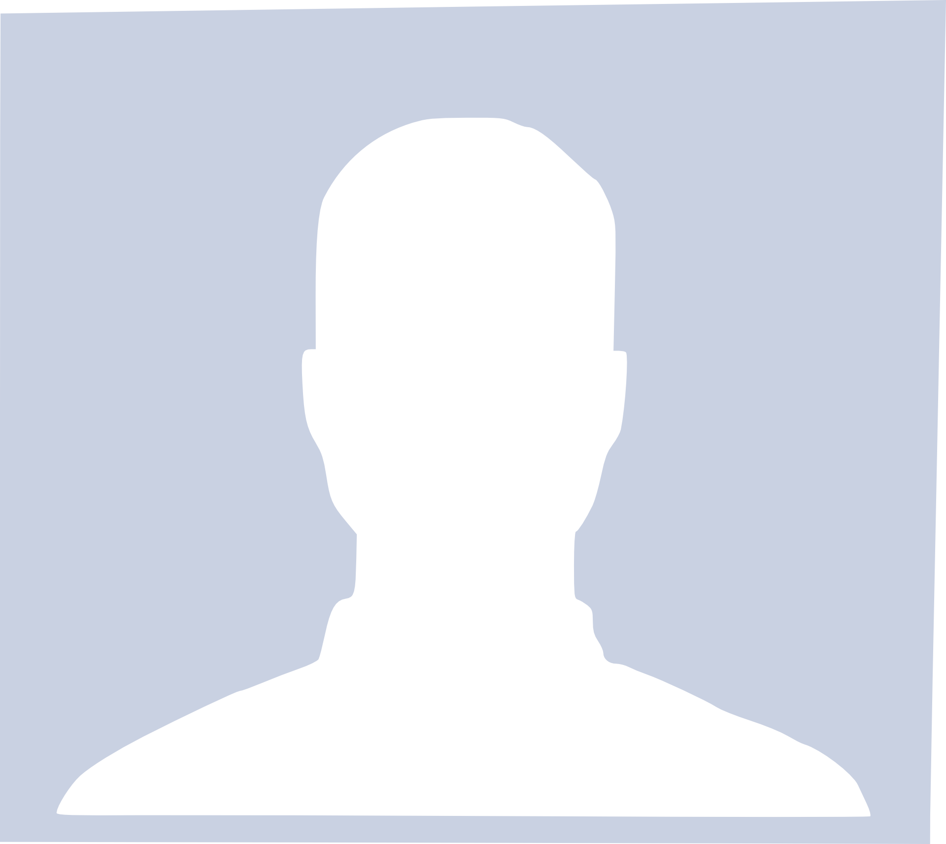 Placeholder image for user with no profile picture - silhouette of male person