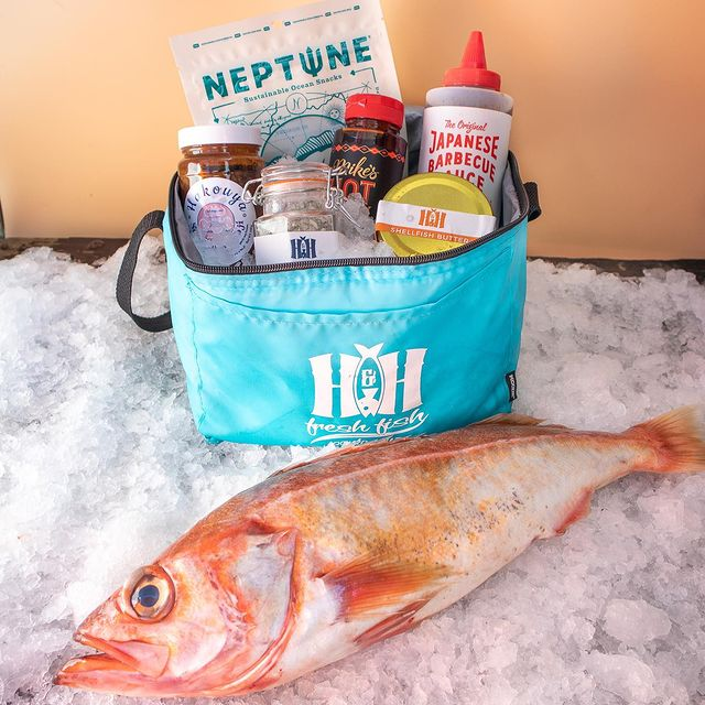 CSF cooler with whole rockfish in front