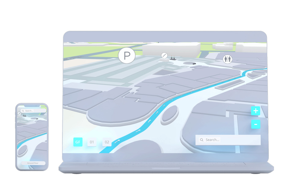 3d maps laptop and mobile