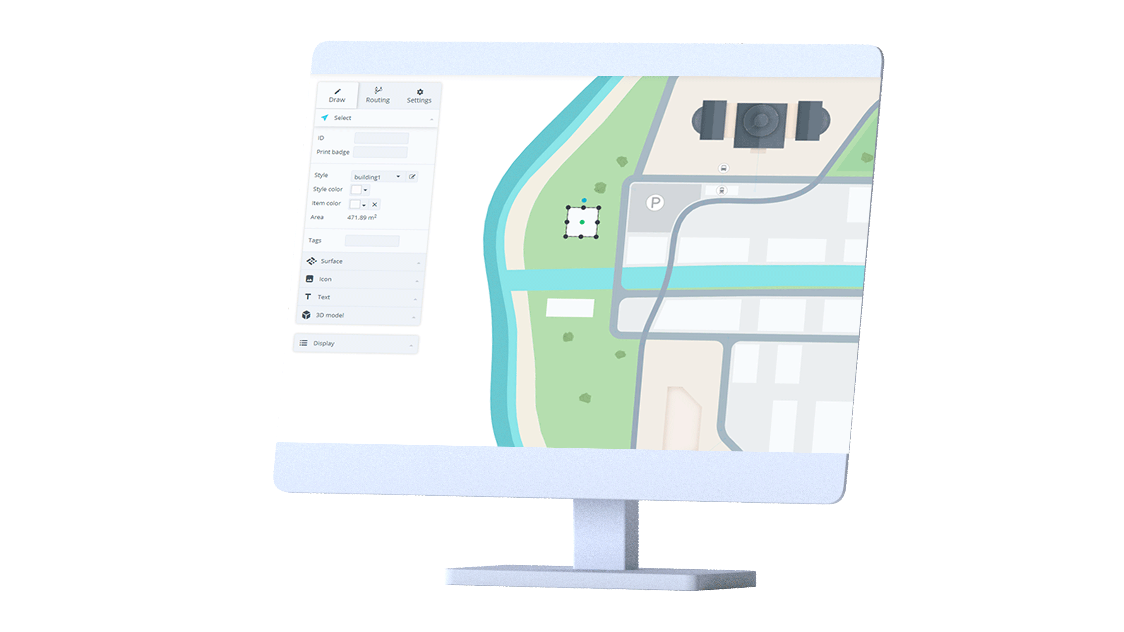 Creation and interaction with indoor maps