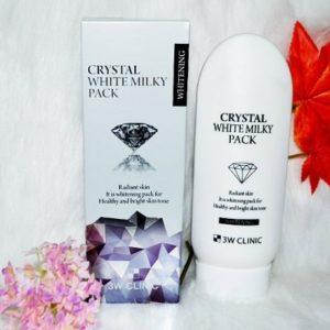 8.Kem trắng da toàn thân cấp tốc Body Crystal White Milky Pack 3W Clinic