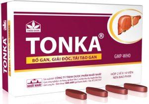 5.Thuốc bổ gan trị mụn Tonka