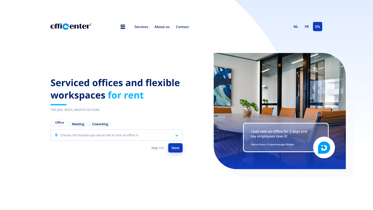 Hero Header Officenter - Serviced offices and flexible workspaces for rent