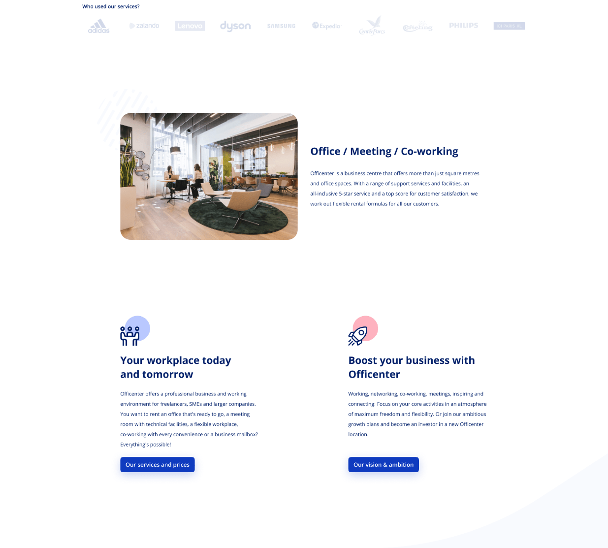 Projekt strony internetowej office meeting co-working