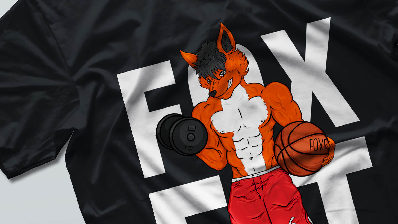 Projekt nadruku na odzież Fox Fit Front
