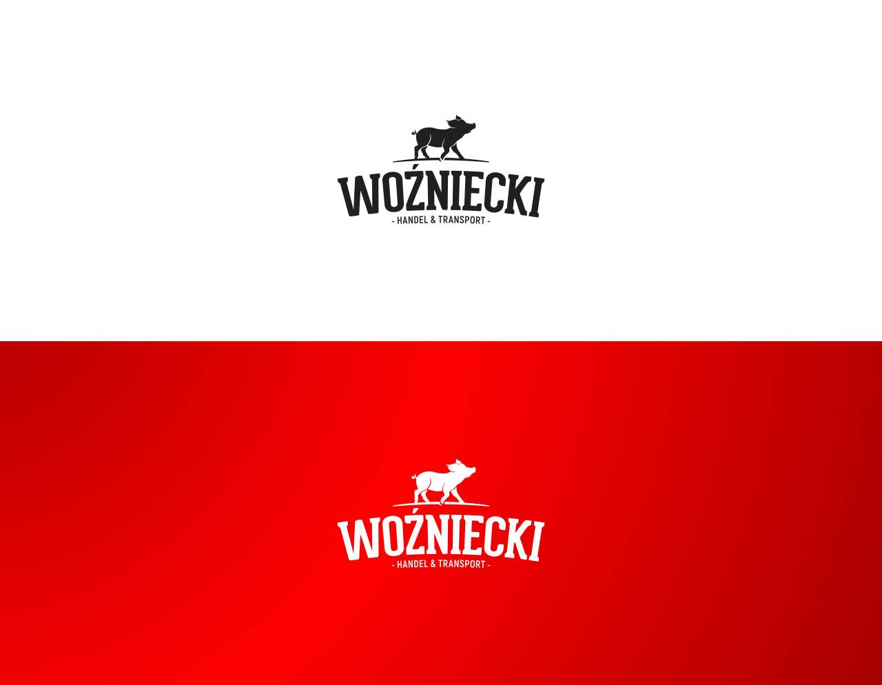 Logo firmowe Woźniecki w różnych wersjach kolorystycznych