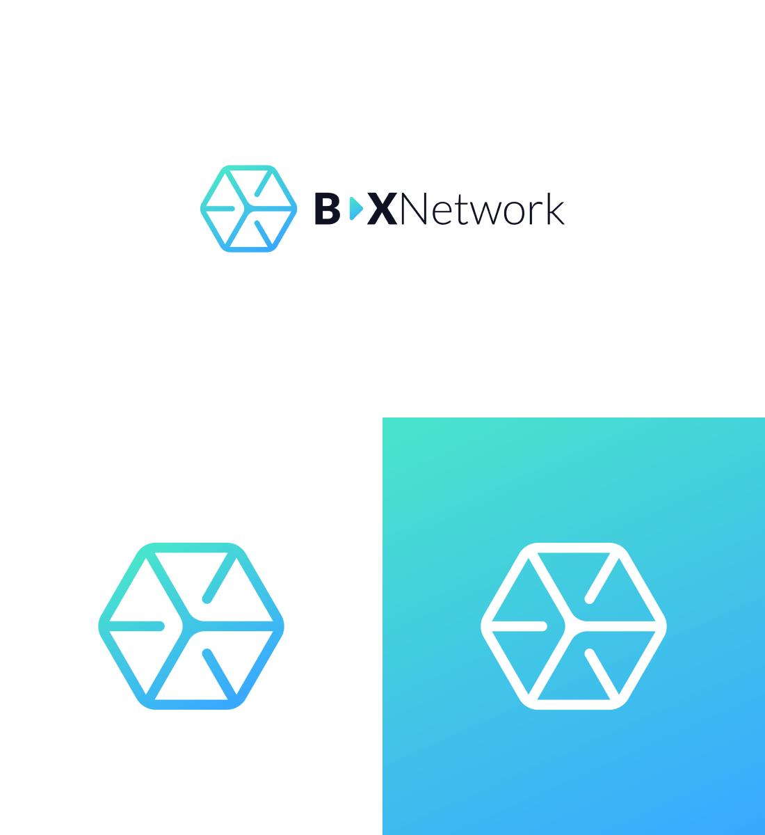 Koncepcja logo Bax Network oraz sygnet logo