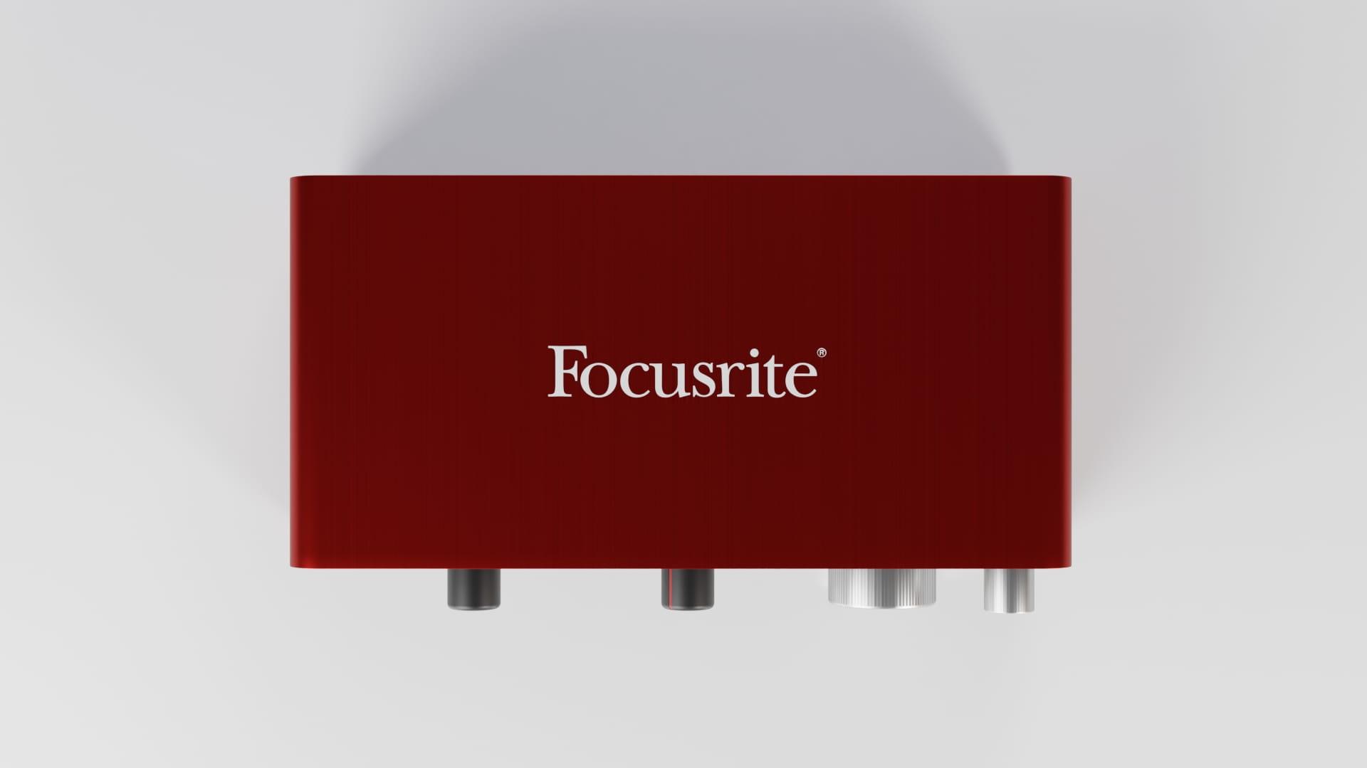 Model 3d Focusrite Scarlett 2i2 zaprojektowany w Blender 2.8 - Top