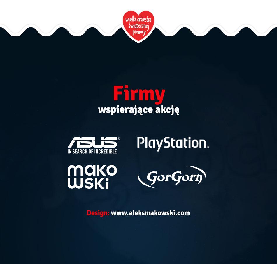 Firmy wspierające: ASUS PlayStation AleksMakowski GorGorn