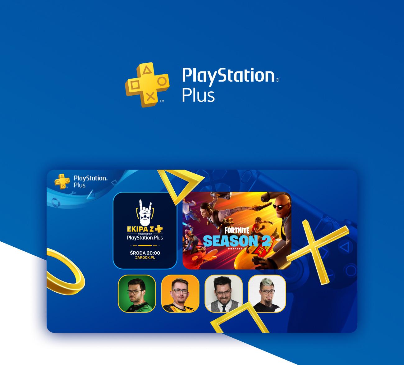 Grafika promocyjna Ekipa z Plusem (gra Fortnite) dla PlayStation Plus