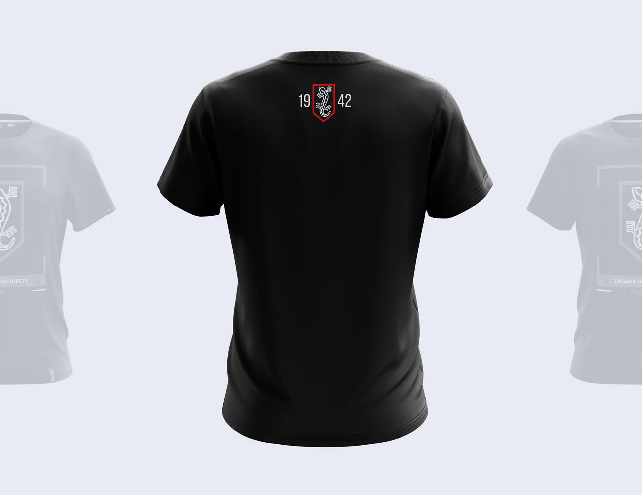 Patriotyczny projekt nadruku na koszulkę wykonany dla marki odzieżowej - tył