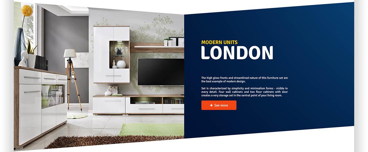 Modern Units London - Projekt sklepu internetowego