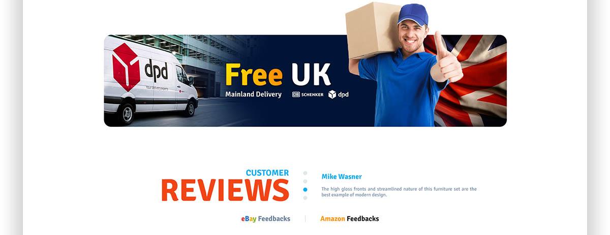 Free UK Delivery - Profesjonalny projekt sklepu online