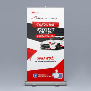 Projekt Roll Up Folia-Samochodowa.pl