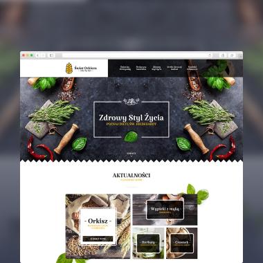 Projekt strony internetowej wykonany Świat Orkiszu