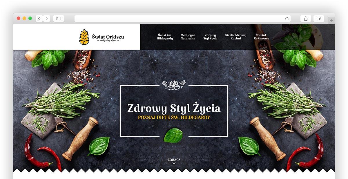 Zdrowy Styl Życia - Poznaj dietę św. Hildegardy - Projekt graficzny strony internetowej Świat Orkiszu