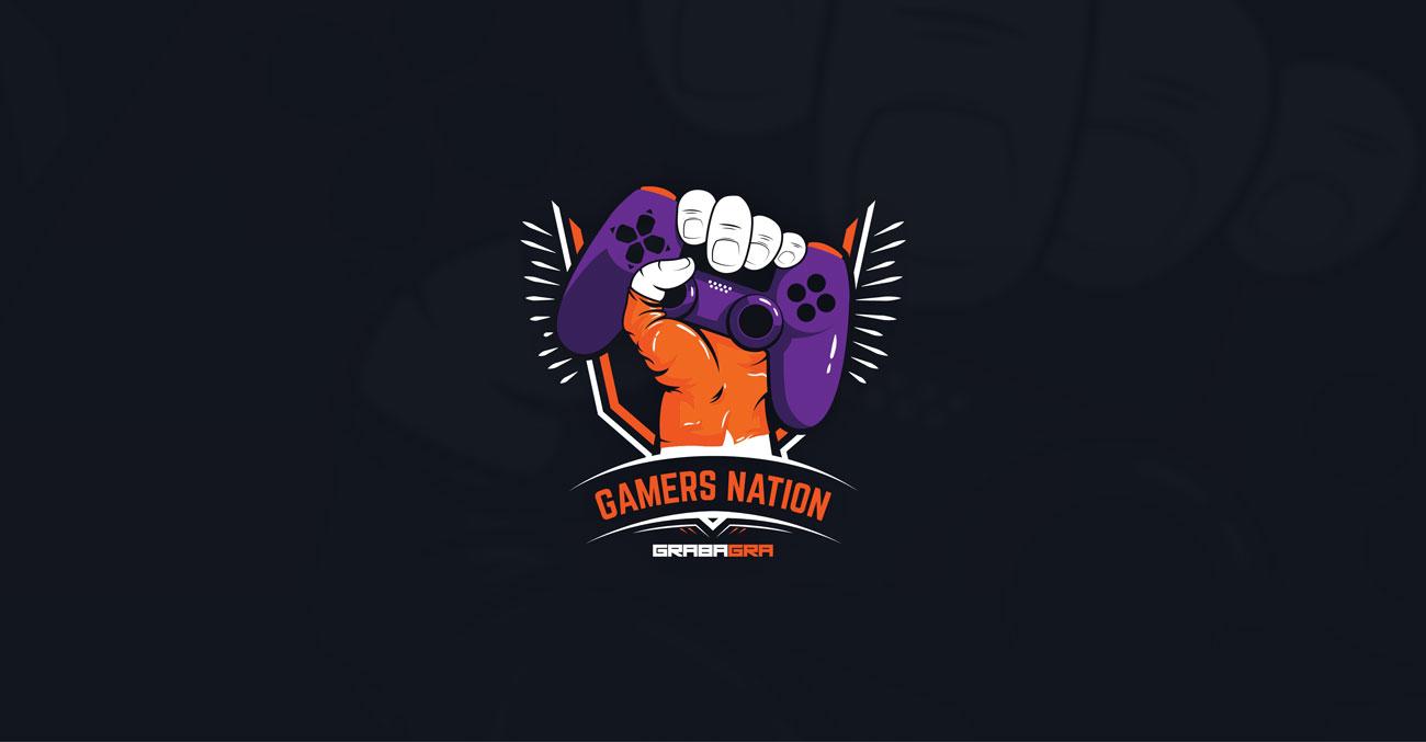 Grafika Projektu nadruku na koszulkę Gamers Nation GrabaGra Paweł Grabowski