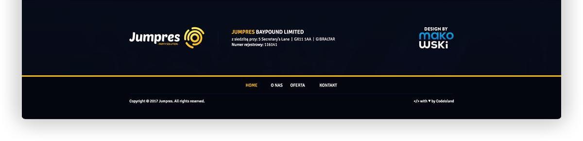 Jumpres Baypound Limited - Projekt strony internetowej Jumpres Studniówki