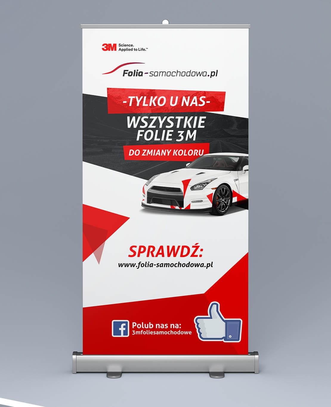 Projekt Roll Up 3M Folia-samochodowa.pl wersja 1