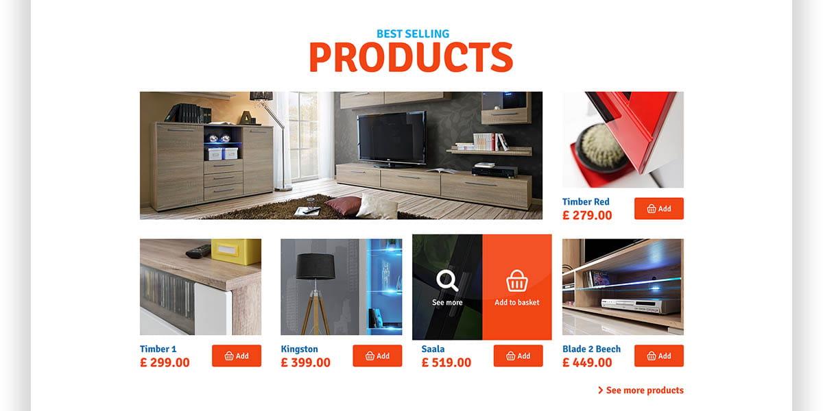 Best Selling Products Extreme Furniture - Projekt sklepu online