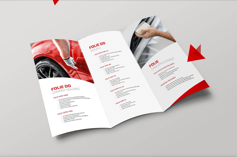 Projekt Ulotki DL dla firmy Folia-Samochodowa.pl