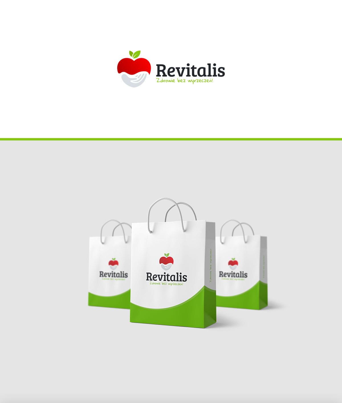 Projekt logo firmy Revitalis - Zdrowie bez wyrzeczeń