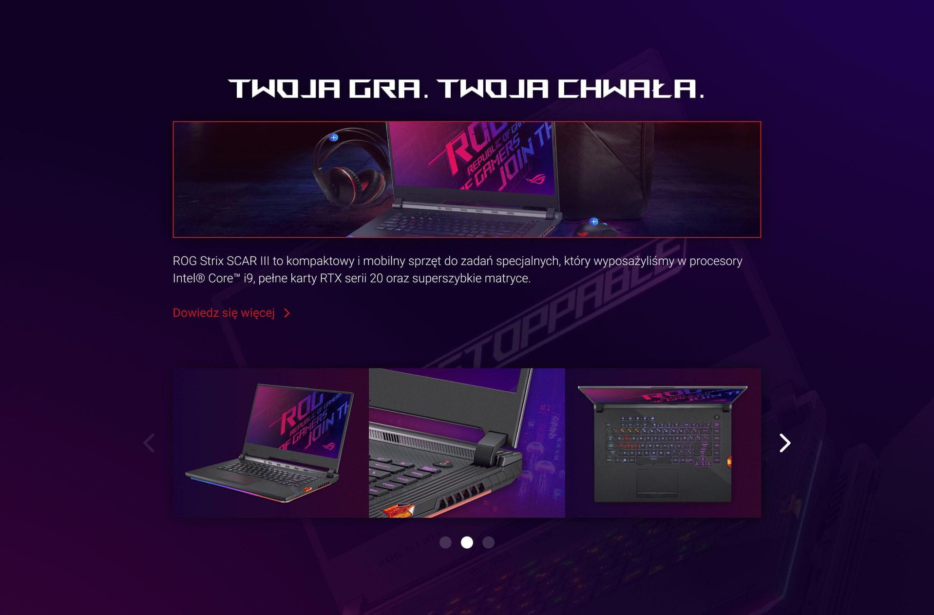 ROG Strix SCAR III Intel Core i9 RTX serii 20