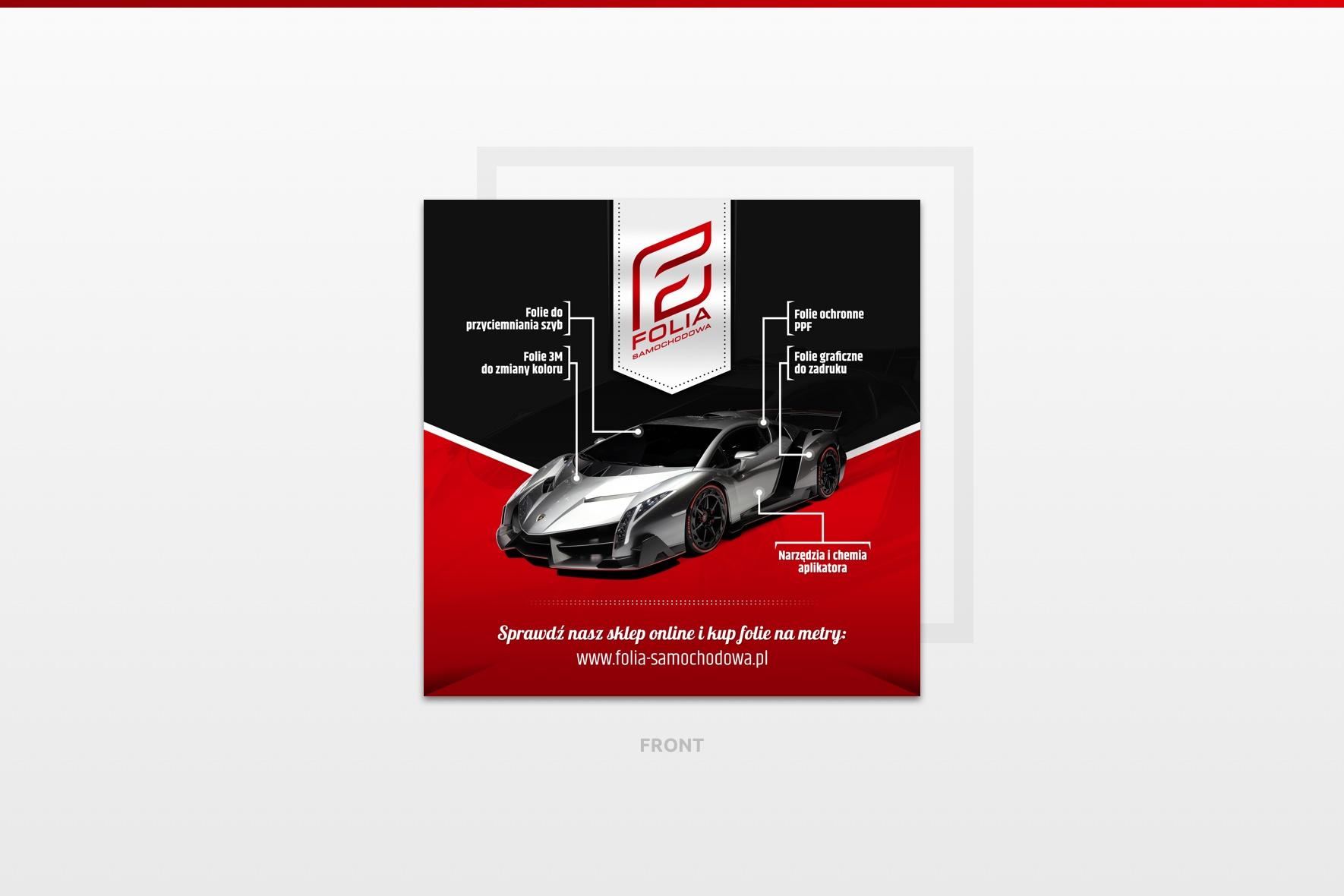 Ulotka zaprojektowana dla Folia-samochodowa.pl na międzynarodowe targi reklamy i druku - RemaDays Warsaw 2019