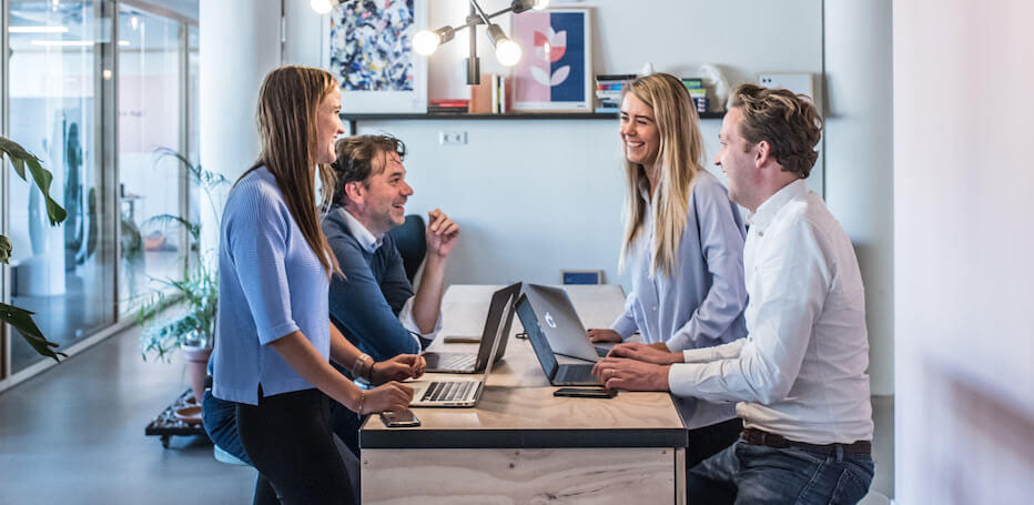 About us - happy office team